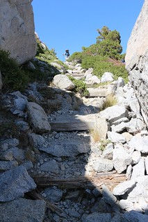 1305 The Tahoe-Yosemite Trail has lots of stony steps between Rubicon Lake and Phipps Pass | by _JFR_
