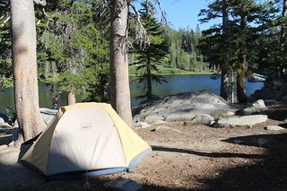 1386 Our campsite on the north shore of Rubicon Lake - we'd be spending two nights here | by _JFR_