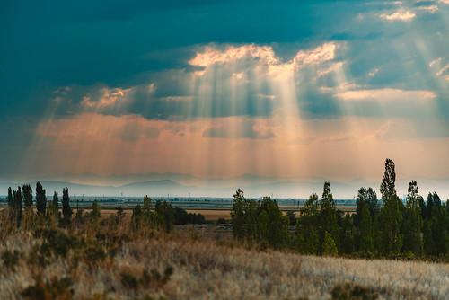turkey catalhoyuk landscape clouds rural archaeology anatolia