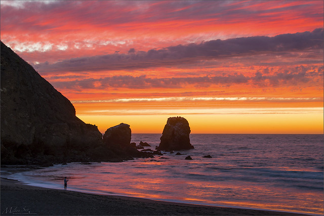 Burning Sunset Last Night