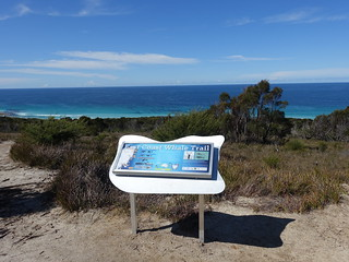 2016-09-27 Friendly Beaches Scenic Lookout 16 - East Coast Whale Trail sign
