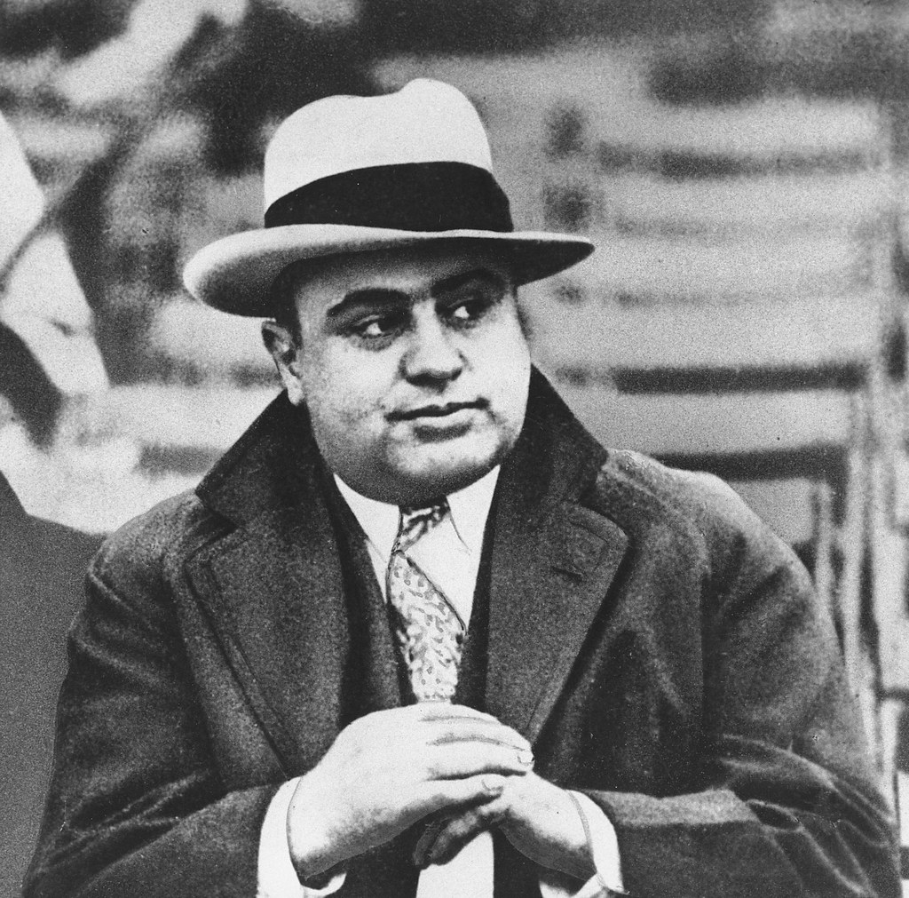 Al Capone | Chicago mobster Al Capone is seen at a football … | Flickr