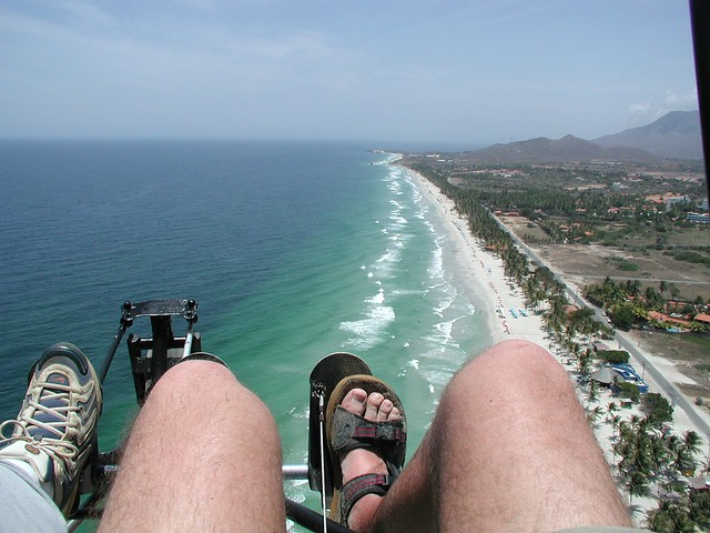 Scarry feets above Isla margarita