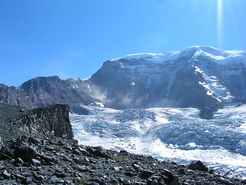 Willis Wall and Carbon Glacier from Curtis Ridge | by brewbooks