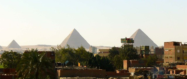 Pyramids from my Hotel