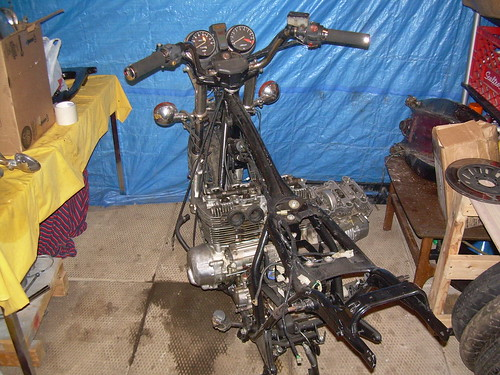 1982 Honda CB650 SOHC 4 Frame and Motor | by evanfell