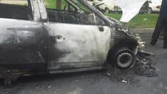 В субботу ночью в Шапурах под Витебском горел автомобиль