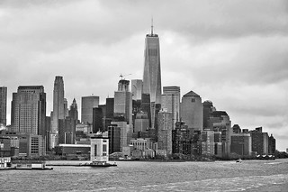 One World Trade Center, dominates Lower Manhattan, New York - 4 May 2016