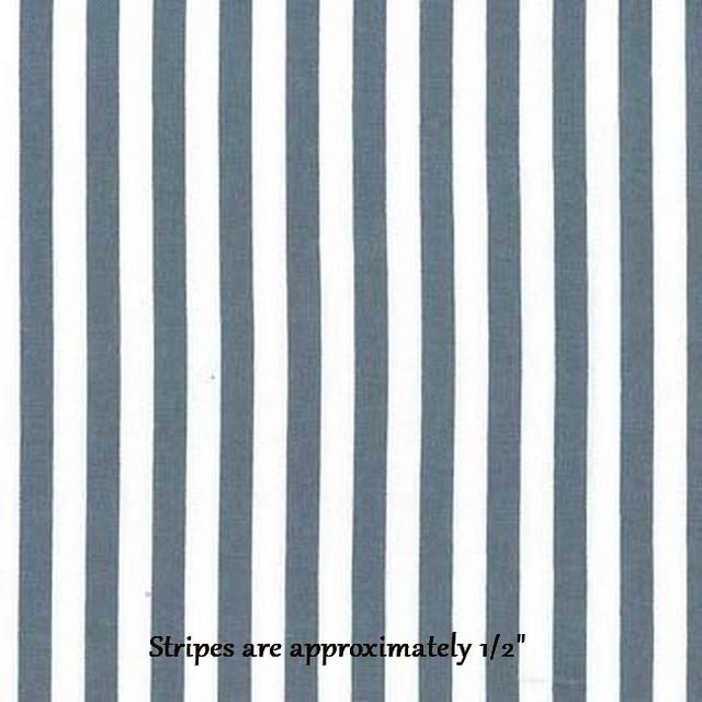 Gray/White Stripes (100% Cotton)