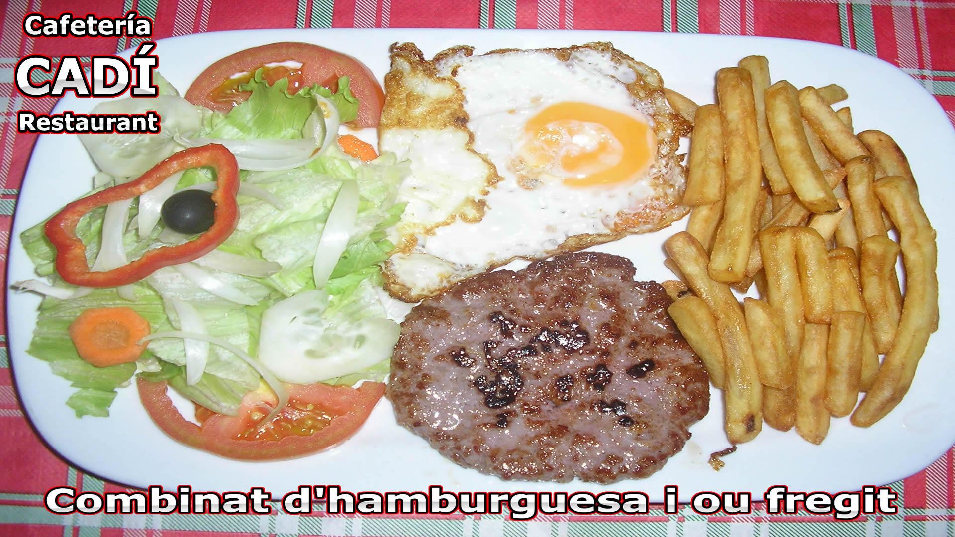 Hamburguesa y Huevo Frito