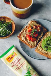 Toast with Tartex, Avo, Pickled Cucumber & Tomato | Cashew | by cashewkitchen