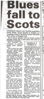 Hamilton Accies V Carlisle United 3-8-88 | by cumbriangroundhopper