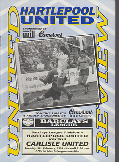 Hartlepool United V Carlisle United 5-2-1991 | by cumbriangroundhopper