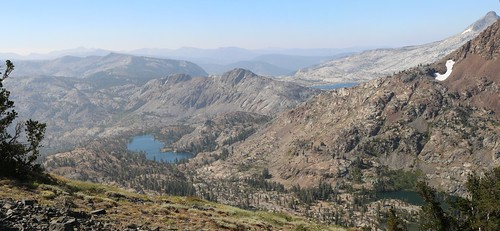 2386 Susie Lake (left), Alta Morris Lake (lower right), and distant Lake Aloha from Dicks Pass on the PCT | by _JFR_