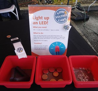 Making LEDs light up again this year at the Portland Mini Maker Faire  #makerfairepdx | by Low Voltage Labs