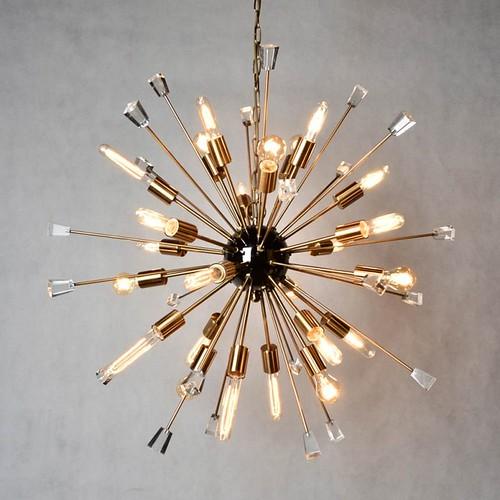 Crystal starburst sputnik chandelier light fixture 24 light   by Lighting Must