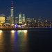 Skyline of lower Manhattan viewed from Exchange Place. Jersey City, NJ, USA