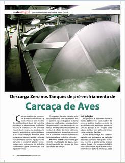 Revista Agromais :Descarga Zero nos Tanques de pré-resfriamento de Carcaça de Frango.