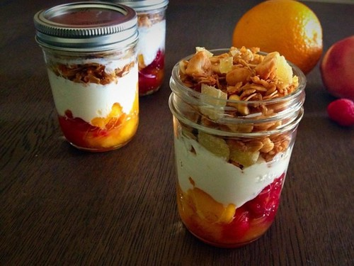 22 - Breakfast Parfaits with Macadamia, Coconut & Ginger Granola Recipe   by Onlinefoodblog