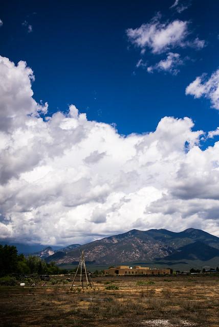 tipi frame, Taos Pueblo