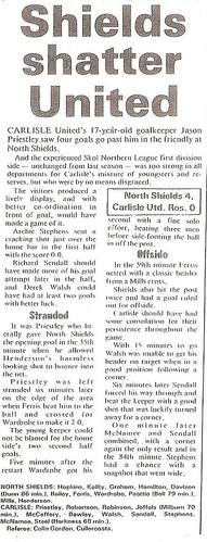 Carlisle United V North Shields 15-8-88 | by cumbriangroundhopper