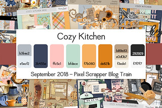 Pixel Scrapper September 2018 Blog Train - Cozy Kitchen | by Pixel Scrapper