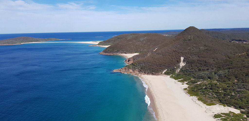 Port Stephens Looking across the secluded Zenith beach, Wr