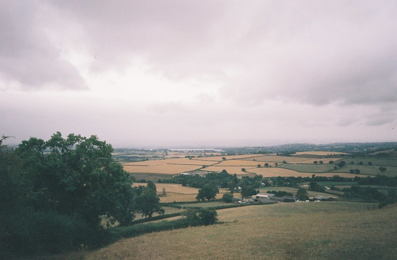 Looking south-west from Maes Knoll
