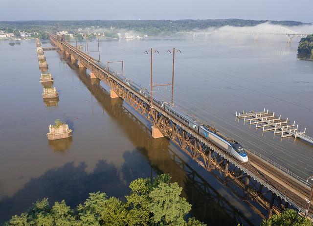 Amtrak Acela Susquehanna River Bridge Perryville, Maryland