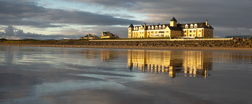 this modern seaside hotel donegal ireland has wonderful beach that provides nice reflections tide goes out gordmckenna gord mckenna sand house castle refleaction sunset