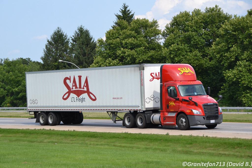 ... Saia LTL Freight Freightliner Cascaida   by Trucks, Buses, & Trains by granitefan713