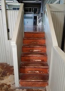 IN, Knightstown-Hoosier Gym Stairway to Stage
