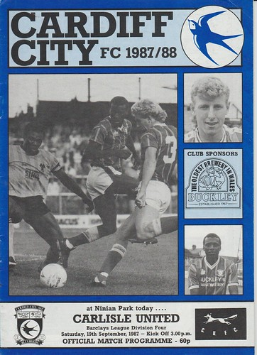 Cardiff City V Carlisle United 19-9-87 | by cumbriangroundhopper