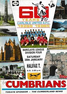 Carlisle United V Halifax Town 28-1-89 | by cumbriangroundhopper