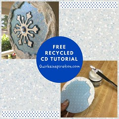 Recycled CD tutorial here https://www.quirksinspiration.com/single-post/Recycled-CD-Decoration