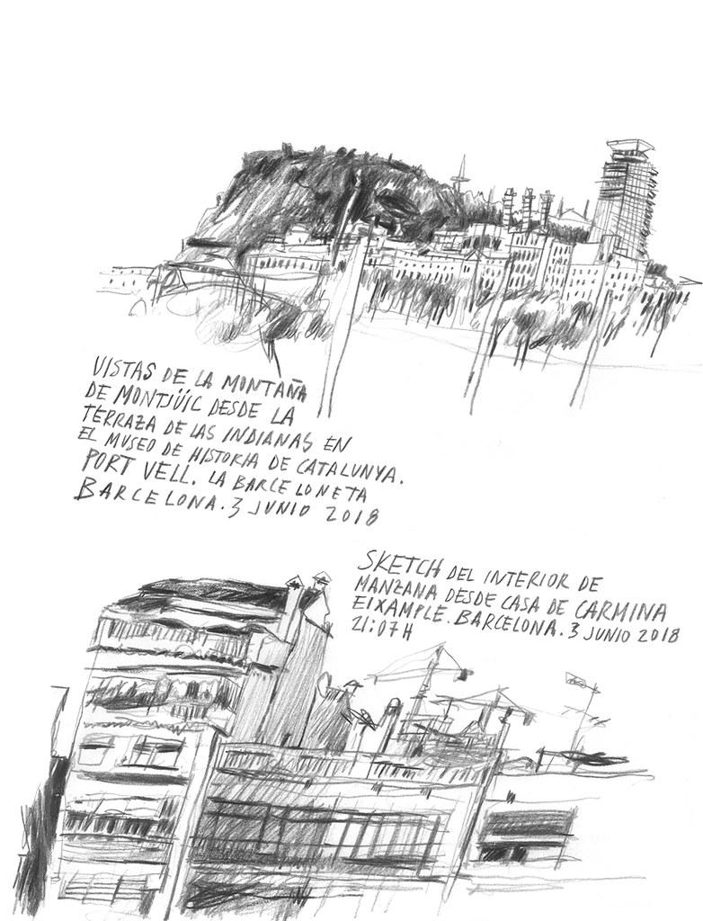 Santi Salles Ilustracion Montjuic Casa Carmina Santi