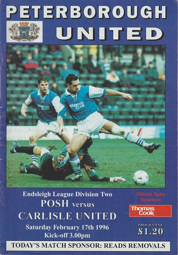 Peterborough V Carlisle 17-2-96 | by cumbriangroundhopper