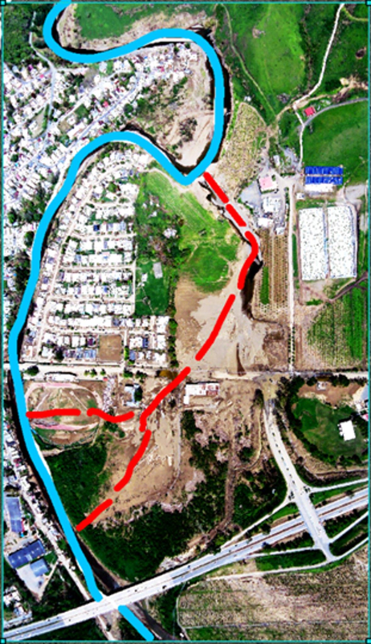 Desvio meandro Rio Yauco en Urb Lucchetti
