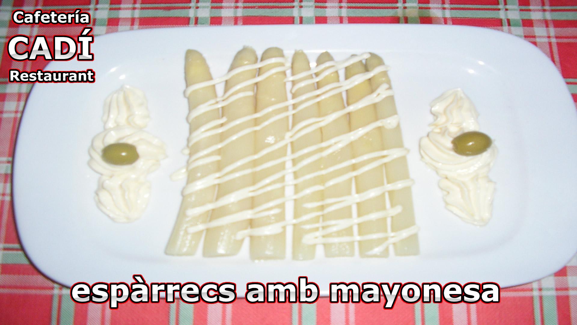 espàrrecs amb mayonesa