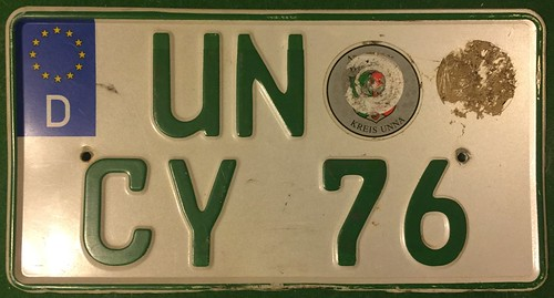 GERMANY, UNNA 2000's---SMALL AGRICULTURAL TRACTOR PLATE | by woody1778a