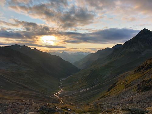 alps alpen sunset sundown dusk mountain ötztal