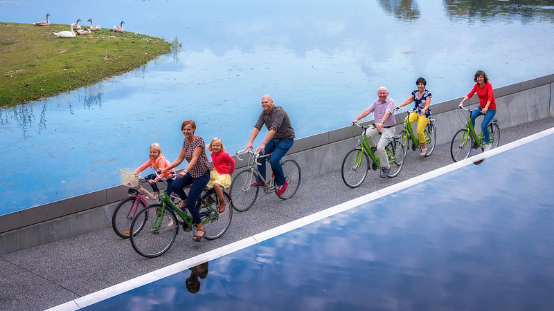 Cycling Through Water - Genk, Limburg - Belgium