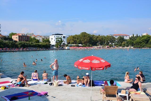 Bačvice Split beach (Hrvatska 2018)