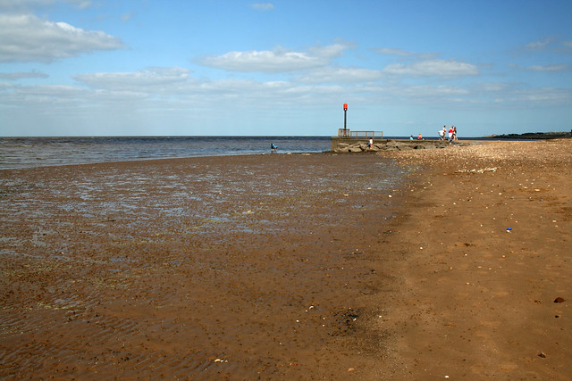 The beach south of Heacham