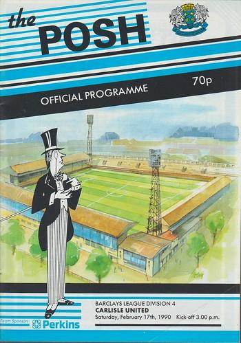 Peterborough United V Carlisle United 17-02-1990 | by cumbriangroundhopper