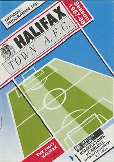 Halifax V Carlisle United 13-2-88 | by cumbriangroundhopper