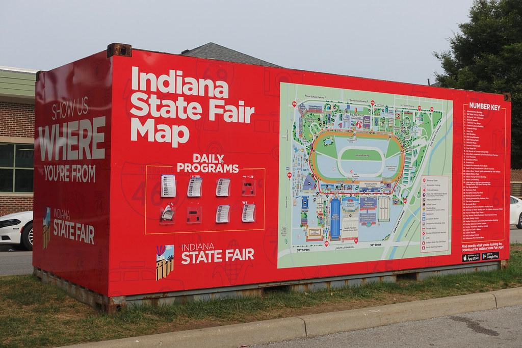 State Fair Map display | 2018 Indiana State Fair in Indianap ...