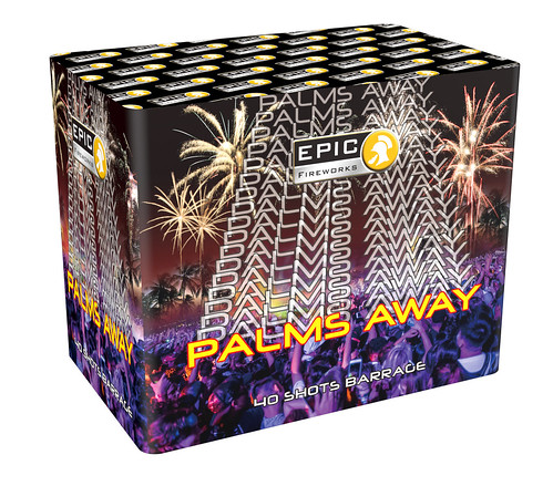 PALMS AWAY 40 SHOT SINGLE IGNITION FIREWORK