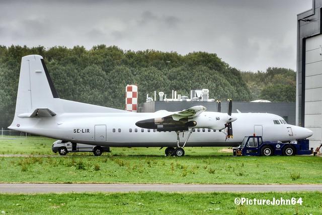 Amapola Flyg Fokker 50 (SE-LIR) at Lelystad airport after paintjob