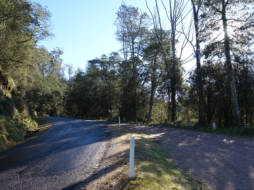 2018-07-28 Mersey Valley Oliver's Road Scenic Lookout 01 - Oliver's Road north from car park | by Cowirrie